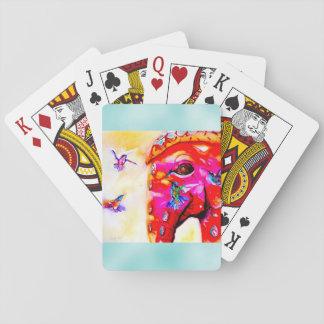 """""""Magie in allen Größen"""" Kolibris u. Elefant-Druck Spielkarten"""