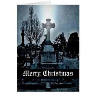 Magie in den Friedhof gotischen frohen Weihnachten Grußkarte
