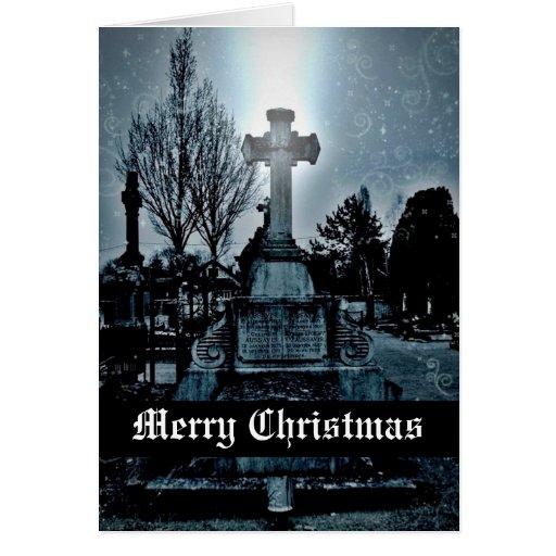 Magie in den Friedhof gotischen frohen Weihnachten Grußkarten
