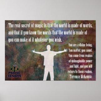 Magie-Licht Poster