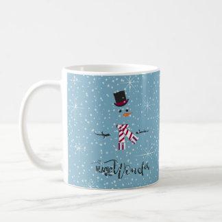 Magie-und Wunder-WeihnachtsSchneemann blaues ID440 Kaffeetasse