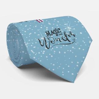 Magie-und Wunder-WeihnachtsSchneemann blaues ID440 Krawatte