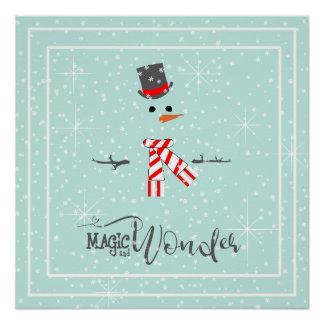 Magie-und Wunder-WeihnachtsSchneemann-Minze ID440 Poster