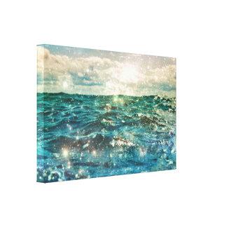 Magique Ozean-Wassershine-Natur-Leinwand Leinwanddruck