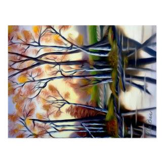 Magische Birken-Bucht-Lagune Postkarte