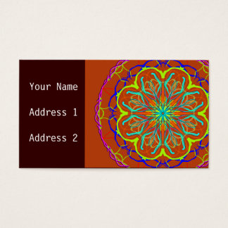 Magische Blumemandala-Geschäfts-Karte Visitenkarte