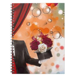 Magische Blumen für eine ganz spezielle Person Spiral Notizblock