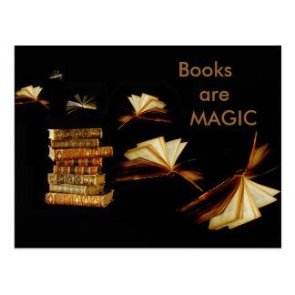 Magische Bücher Postkarte