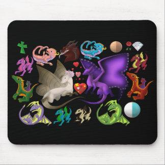 Magische Drache-Mausunterlage Mousepad