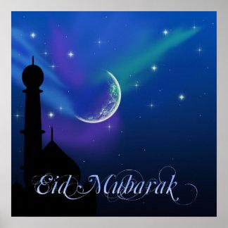 Magische Eid Nacht - islamischer Gruß-Plakat-Druck Poster