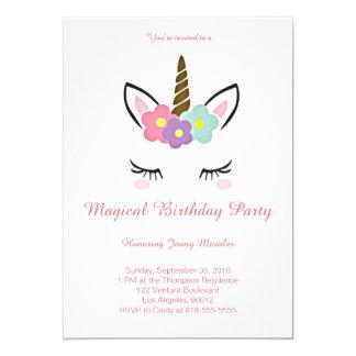 Magische Einhorn-Geburtstags-Einladung Karte