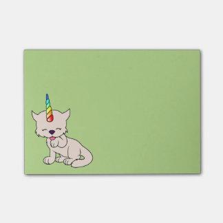 Magische Einhorn Katze = Kittycorn Post-it Klebezettel