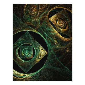 Magische Erschütterungs-abstrakter Kunst-Flyer 21,6 X 27,9 Cm Flyer