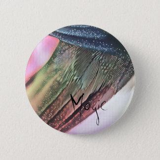 Magische Feder Runder Button 5,1 Cm