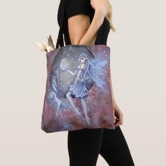 Magische Fee-und Eulen-Fantasie-Kunst Tasche