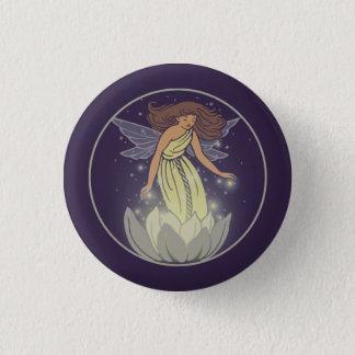 Magische feenhafte weiße runder button 3,2 cm