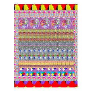 MAGISCHE grafische Kunst-Teppich-Collage NVN188 Postkarten