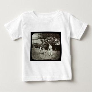 Magische Laternen-Dia-Kricket-Spieler Vintag Baby T-shirt
