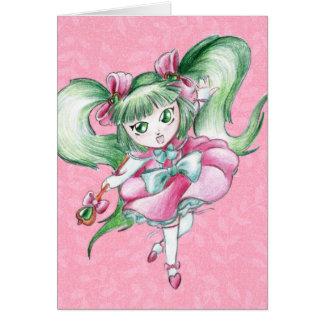 Magische Mädchen-Gruß-Karte Karte