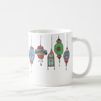 Magische marokkanische Laternen-Tasse Kaffeetasse