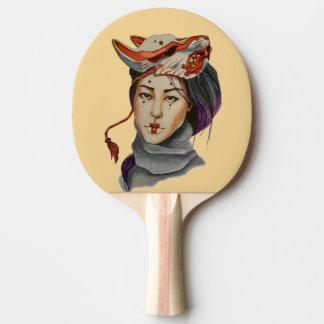 magische Maske Tischtennis Schläger