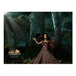 Magische Mitternachtspostkarte der gotischen Postkarte