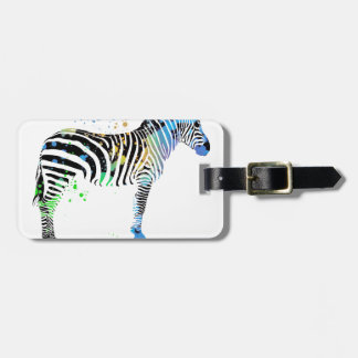 Magische multi farbige Zebra-Sprühfarbeart Gepäckanhänger