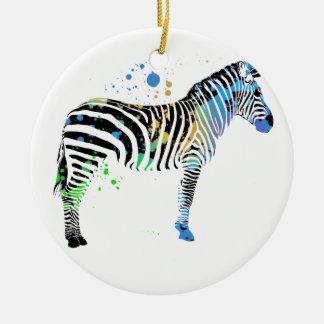 Magische multi farbige Zebra-Sprühfarbeart Keramik Ornament