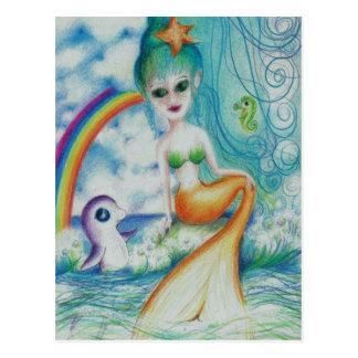 Magische mystische Meerjungfrau Postkarte