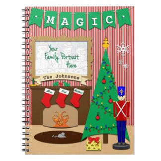 Magische Nacht vor Weihnachten • 3 Strümpfe Spiral Notizblock