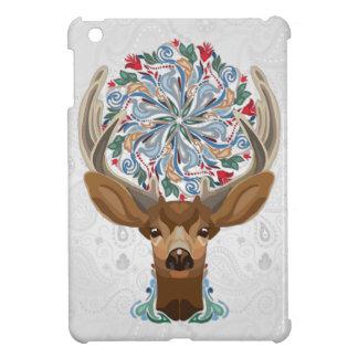 Magische niedliche Waldrotwild mit blühen iPad Mini Hülle