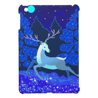 Magische niedliche Weihnachtsrotwild mit Glocke iPad Mini Hülle