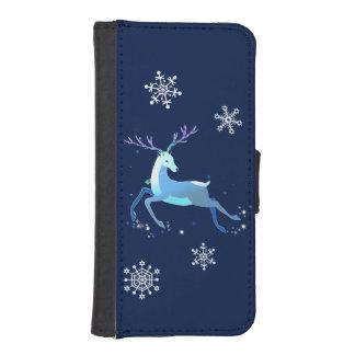 Magische niedliche Weihnachtsrotwild mit Glocke iPhone SE/5/5s Geldbeutel