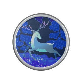 Magische niedliche Weihnachtsrotwild mit Glocke Lautspercher