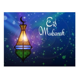 Magische Ramadan-Laterne - Eid Gruß-Postkarte Postkarte
