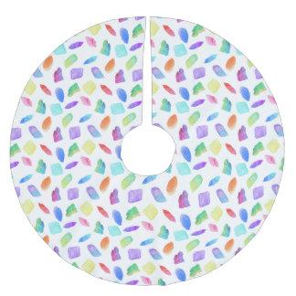 Magische Regenbogen-Kristall-bunter Polyester Weihnachtsbaumdecke
