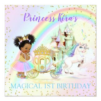 Magische Regenbogen-Prinzessin Castle Carriage Karte