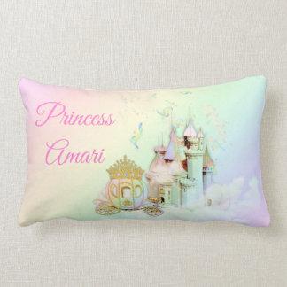 Magische Regenbogen-Prinzessin Castle Carriage Lendenkissen