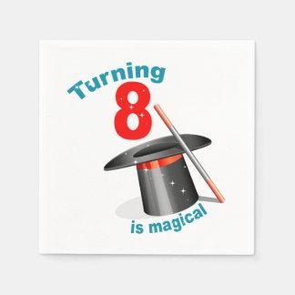 Magische Show-8. Geburtstag Serviette