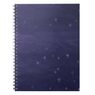 Magische sternenklare Nacht Notizblock