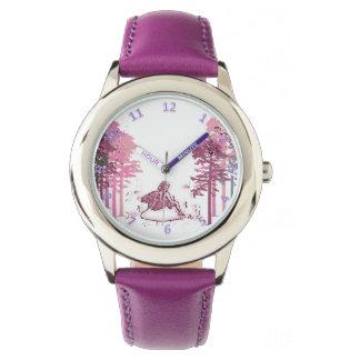 Magische Stunden-feenhafter Wald Armbanduhr
