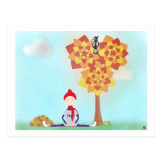 Magische Tree_Mental Gesundheit Postkarte