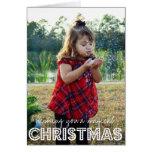 Magische WeihnachtsFoto-Feiertags-Karte Grußkarte