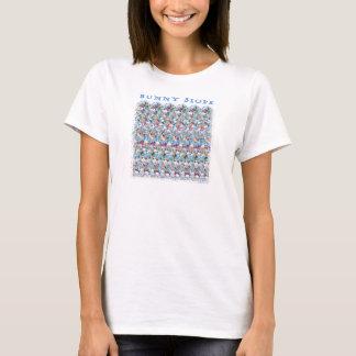 """Magischer Augen- ® 3D """"Häschen-Steigungs-"""" T - T-Shirt"""
