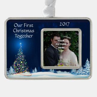 Magischer Baum-kundenspezifische Foto-Verzierung Rahmen-Ornament Silber