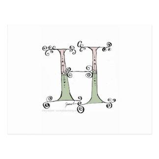 Magischer Buchstabe H von tony fernandes Entwurf Postkarte