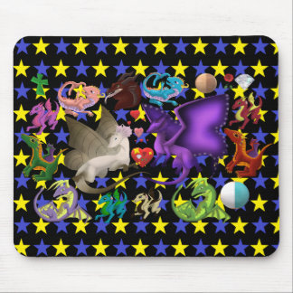 Magischer Drache-Mausunterlage-Stern 2 Mousepad