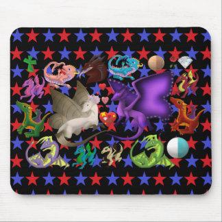 Magischer Drache-Mausunterlage-Stern 3 Mousepad