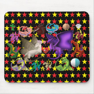 Magischer Drache-Mausunterlage-Stern Mousepad