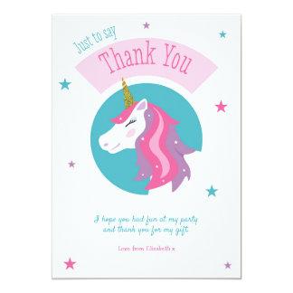 Magischer Einhorn-Geburtstag danken Ihnen zu Karte